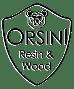 orsini resin wood logo black
